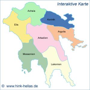 Peloponnes Karte Regionen.Die Peloponnes Bei Hink Hellas De Ute Peter Hink